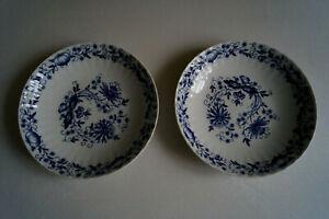 2x Suppenteller, Suppenschüsseln, Zwiebelmuster, Wunsiedel Bavaria, 21cm Durchm.