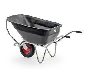 Growi Compactkarre 180 Liter Kippkarre Hofkarre Mistkarre Zweiradkarre schwarz
