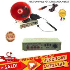 ALTOPARLANTE MEGAFONO MICROFONO REGISTRATORE AMPLIFICATORE AUTO 12V *C*