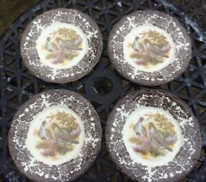 Palissy Game Series by Royal Worcester dinner plates x 4 - Partridge