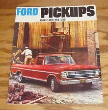 1968 Ford Pickup F-100 F-250 4 x 4 Bronco Ranchero C F N W Series Truck Brochure