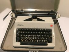 Portable Olympia Typewriter Russian Alphabet Cyrillic In Case Well Maintained