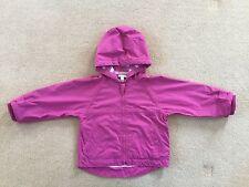 Jojo Maman Bebe Girls Pink Spring Summer Rain Jacket / Coat Age 18-24 Months