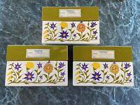 Vintage Metal Hinged Recipe Box Yellow & Purple Flowers Syndicate MFG Recipe Box