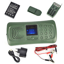 Lettore MP3 da caccia richiamo chiamante 20W Altoparlante Torcia Elettrica remoto 110 CANZONI