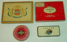 Lot 4 anciennes boites en tôle - cigarettes / Set of 4 French sheet metal boxes