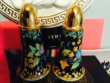 VERSACE PEPPER SALT SHAKER SET GOLD IVY AUTHENTIC ROSENTHAL RETIRED $500