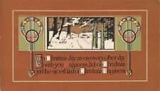 ARTS & CRAFTS DESIGN, DAVIS PUB, CHRISTMAS PC, WINTER SCENE, used 1912