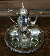 F.B. Rogers Co. Silver Plated Coffee Tea Service Set W.m. Rogers Plate Tray