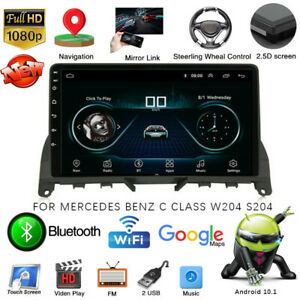 For Mercedes Benz C Class W204 S204 Car GPS Navigation WIFI Stereo Radio Player