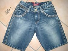 (50) Coole RARE-The Kid Boys used look Jeans Bermuda Hose mit Stickerei gr.116