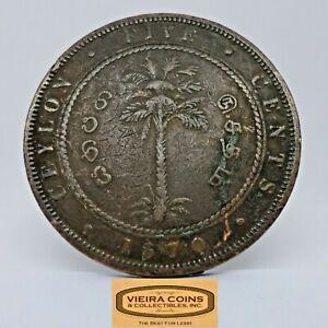 1870 Ceylon 5 Cents, Free Shipping - #C20824NQ