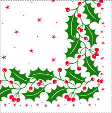 250 x Napkins Christmas Design 33cm (2ply) PARTY BUFFET FOOD CATERING  (1150/8)