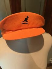 Vintage KANGOL Spitfire Crown Orange Flat Fashion Cap - M (Medium) Made England