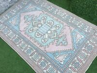 5'11''x9'4'' Antique Turkish Rug,Vintage Oushak Tribal Rug,Large Ushak Area Rug