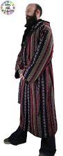 Long Hippy Boho Male Festival Coat, Long Jacket, Festival Cloak Black/Red