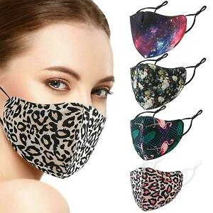 FaceCovering Washable Reusable Breathable Nose UK Protect Adult Size