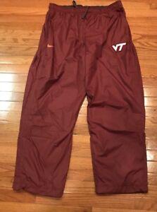 Nike Virginia Tech Hokies Jogging Wind Pants NWOT 2XL XXL Embroidered