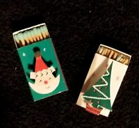 Fabulous Pair Of Vintage Santa Claus & Christmas Tree Match Boxes - Japan