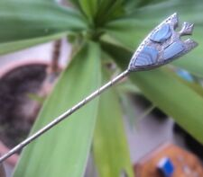 Vintage Edwardian Silver Scottish Montrose Agate Stickpin / Stick Pin c.1900