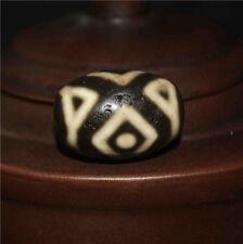 necklace pendant three eyed tibetan dzi bead old amulet 3 eyes agate antique