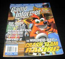 Vintage Game Informer Magazine Nintendo PS Nes Sega video games 1999 issue 74