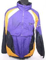 Vintage 1980s Reebok Nylon Anorak Jacket Purple & Orange Windbreaker Mens Medium