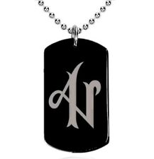 Colgante, Dog Tag, Placa militar - Adexe y Nau, logo, A