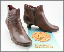 PLANET SHOES WOMEN'S MID HEEL BROWN ANKLE BOOTS BOOTS SIZE 8 NEW