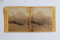 Pic Del Midi Ossau Stereo Da J.Andrieu di Carta Albume D'Uovo Vintage C 1875