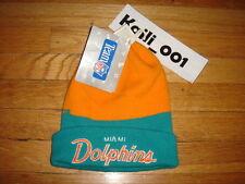 Vtg Miami Dolphins beanie hat starter cap Blockhead Vintage 80s 90s B