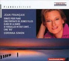 JEAN FRAN‡AIX: SONATE POUR PIANO; CINQ PORTRAITS DE JEUNES FILLES; ELOGE DE LA D