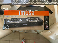 Double Burner Electric Portable Cooktop Countertop Stove Cooking Hot Plate NEW