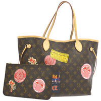 LOUIS VUITTON NEVERFULL MM SHOULDER TOTE BAG MONOGRAM WORLD TOUR SF3117 AK38428a