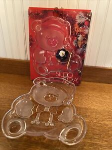 Studio Nova Glass Holiday Bear Hostess Platter  12 Inch