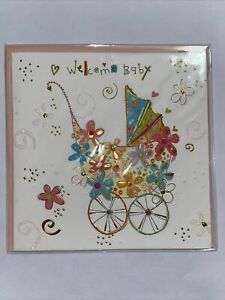 Papyrus Turnowsky WELCOME BABY Baby Carriage Greeting Card