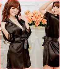Sexy Lingerie Sleepwear Pajamas bathrobe Babydoll girls nightie black gown