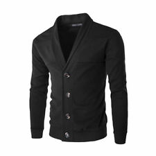 Gentle Mens Slim Fit V Neck Knitwear Pullover Cardigan Sweater Jacket Coat Tops
