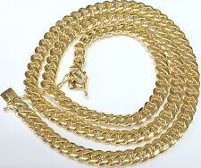 MIAMI CUBAN 10KT YELLOW SOLID GOLD 10.50MM AND 34 INCHES LONG, WT. 292.28 GRAMS
