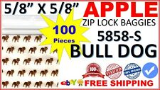 "5858 Apple Baggies Mini Ziplock 5/8"" Zip lock Bags Print Design (TOP DOG 100)"