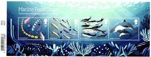 2021 GB Marine Wild Coasts Food Chain Barcoded Mini Sheet 22/07/21 +FREE CARRIER