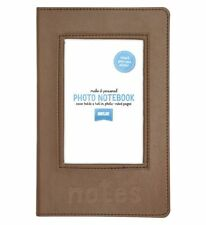 Shot 2 Go Personalised Photo Notebook Tan/Notes/Photograph/NEW