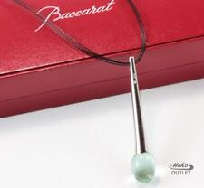 BACCARAT TENTATION 925 STERLING SILVER GREEN CRYSTAL NECKLACE PENDANT