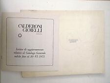 CATALOGO CALDERONI GIOIELLI 1975 preziosi  B4