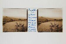 Puy du Dôme Le Mont Rognon et Clermont Gergovie Auvergne Plaque stéréo 1932