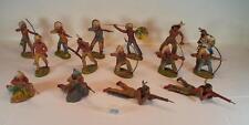 Elastolin Masse Figuren Wildwest Indianer Konvolut mit 15 Indianern #109