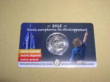 2 Euro SM  Belgien  2015 BU  Europäische Entwicklung  Coincard