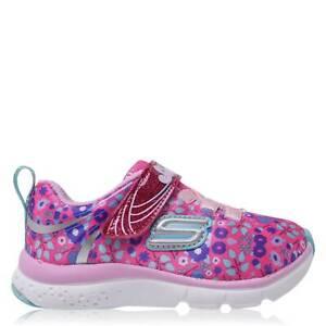 Skechers Jump Lites Sneakers Infants Girls Runners Padded Ankle Collar Shock