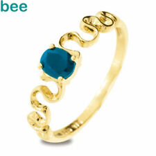 Solitaire Yellow Gold Sapphire Fine Rings