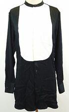 Polo Ralph Lauren New Contrast-Bib Satin Tunic Size 12 MSRP $245 #T 608